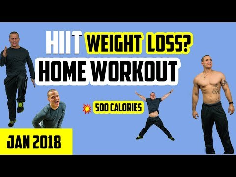 HIIT Workout For Weight Loss (2018)  💪 Burn 500 Calories (FAST)
