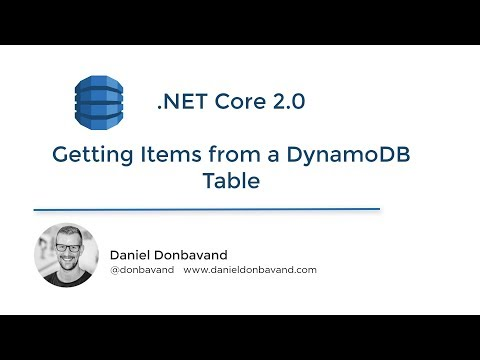 AWS DynamoDB - Add and Get Items in  NET Core Using the AWS