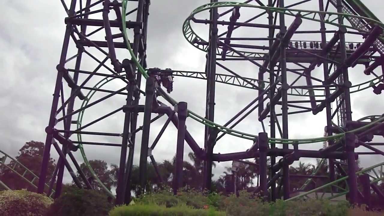 Green Lantern Coaster At Warner Bros Movie World Au Youtube