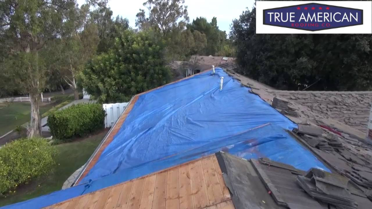 Awesome How To Tarp Off A Open Roof Rolling Hills Roofing Contractors