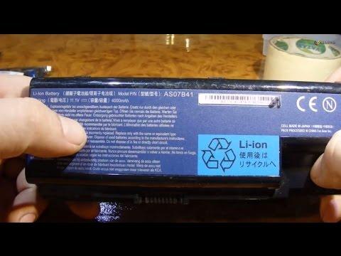 Разборка аккумулятора Acer