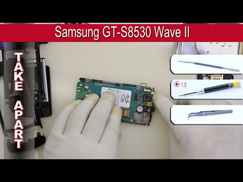 How to disassemble 📱 Samsung GT-S8530 Wave II Take apart Tutorial
