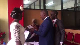 Live Wire: NTV's Andrew Kyamagero makes it official with fiance Linda Ndagire in a civil ceremony