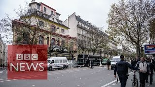 Scenes outside the Bataclan (360 video) - BBC News