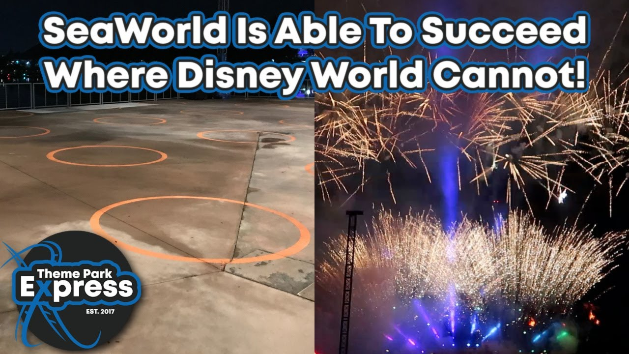 Two Months Later! Do We Feel Safer Than Before? SeaWorld Orlando Electric Ocean Remix & Fireworks!