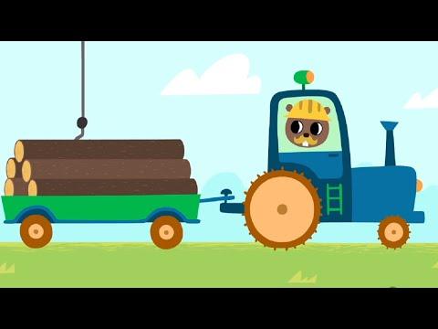 Развивающие мультики для малышей про машинки - Удивительная стройка - Учимся считать до пяти