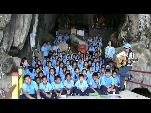 'The Fields of Athenry' ,sung in a cave by Thai school children.