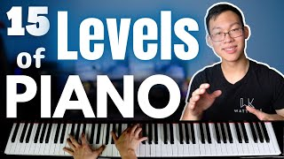 15 Levels of Playing the Piano: Beginner to Pro