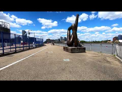 LONDON Walk Tour THAMES PATH From NORTH GREENWICH To CUTTY SARK - England