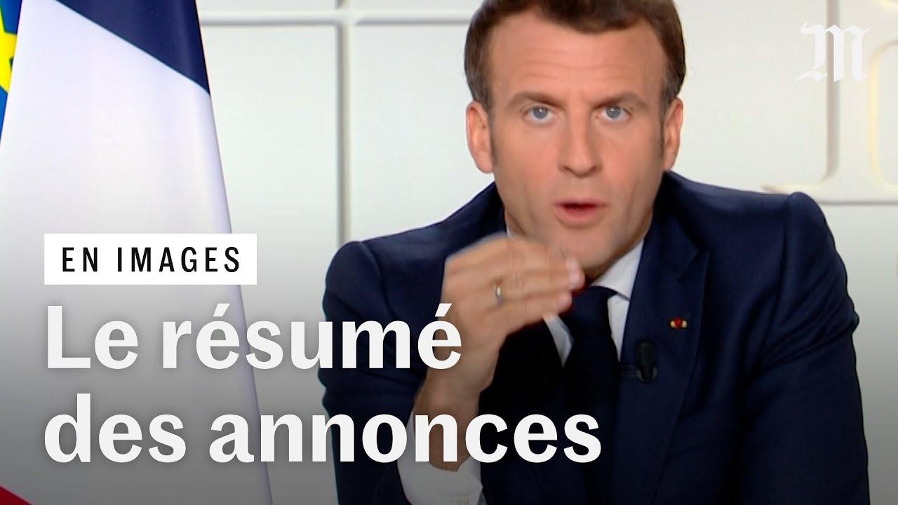 Couvre-feu, écoles, vaccins : le résumé des annonces de Macron face au Covid-19
