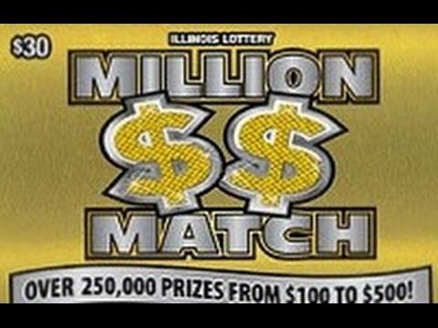 New Ticket Live Illinois Lottery Reveal Million Dollar Match Big Win