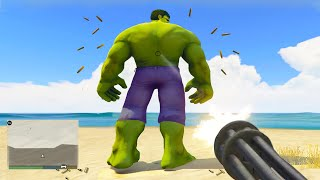 HUNTING Superheroes In GTA 5! (Thanos, Hulk, Flash, Goku, Ironman)