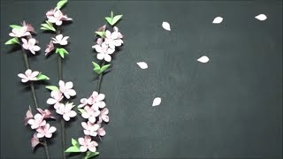 (ペーパーフラワー)簡単!コピー用紙で桃の花の作り方【DIY】(Paper Flower) Easy! How to make peach flowers with copy paper