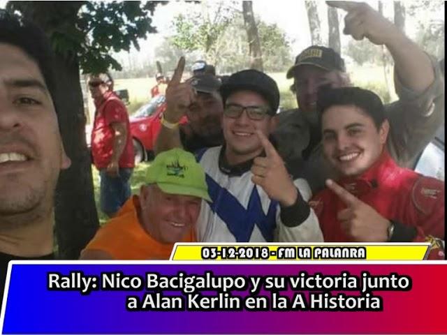 Rally   Nico Bacigalupo y su victoria junto a Alan Kerlin en la A Historica