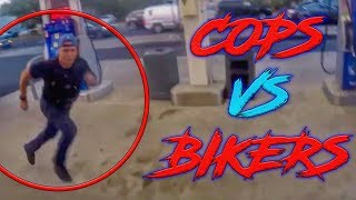 COOL & ANGRY COPS VS BIKERS | POLICE CHASE MOTORCYCLE