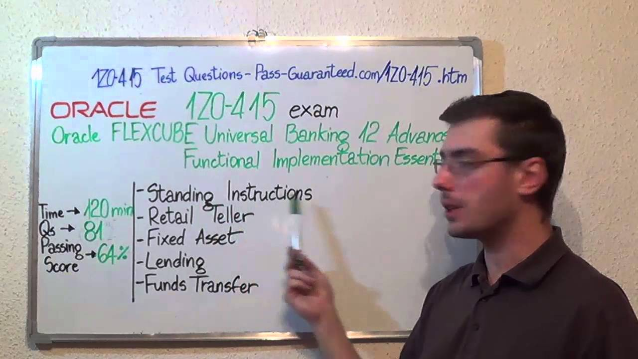1Z0-415 – Oracle Exam FLEXCUBE Universal Banking Test Functional Questions