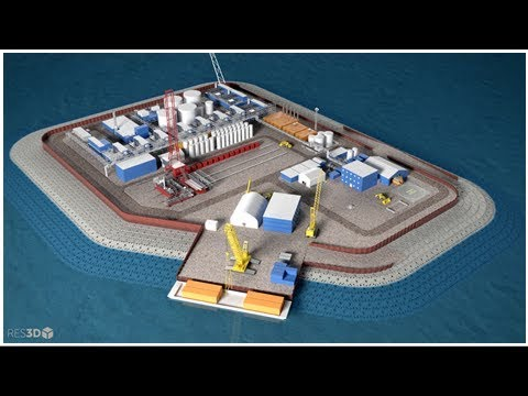 Artificial island for arctic oil drilling?