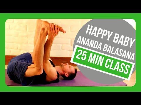 Happy Baby Ananda Balasana Morning 30 Minute Yoga Class