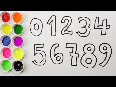 Como Dibujar Y Colorear Los Numeros Aprende Los Numeros Y Colores
