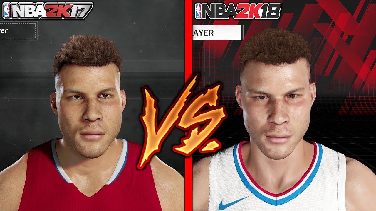 NBA 2K18 VS NBA 2K17 FACE COMPARISON PART 1 ALL TEAMS PS4