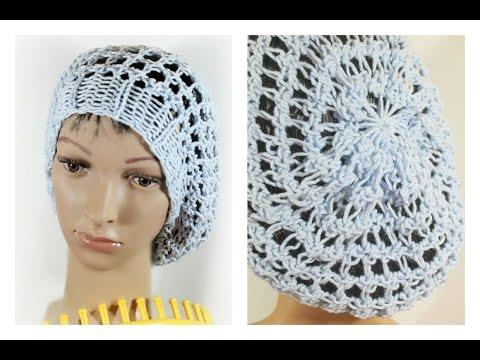 95ffcffc2a5 Loom Knit Hat Three Step Stitch on a Round Loom Slouchy Beanie Snood -  YouTube
