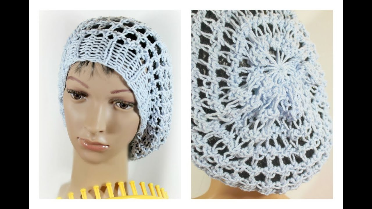 Three Step Stitch Slouchy Beanie Snood Hat on Round Loom (Circular ...
