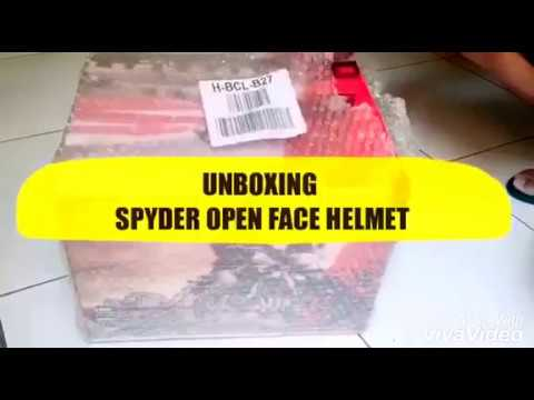 5c310370 UNBOXING Spyder Open-Face Helmet with Dual Visor Titan PD from Lazada