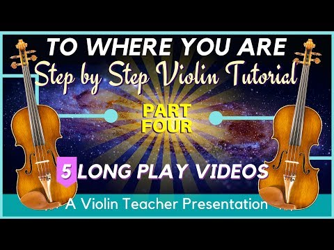 Step by Step Violin Tutorial - To Where You Are, Part 4   Holding Fingers Down