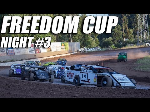 Freedom Cup - Cottage Grove Speedway - Night #3 In car cam. 7/6/19