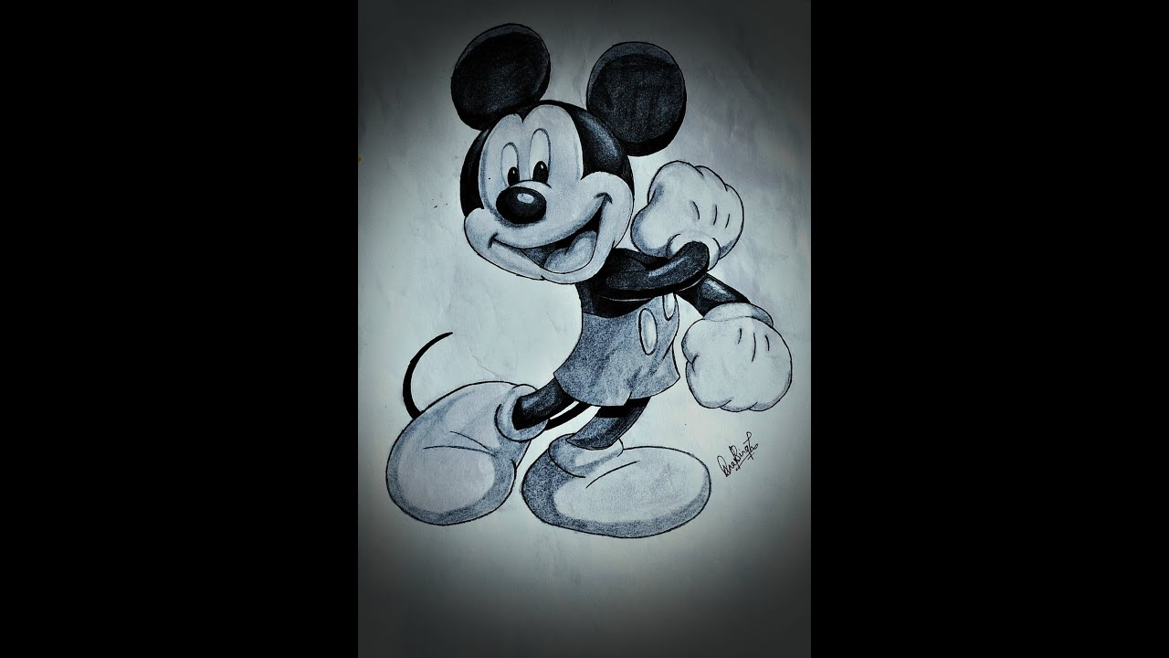 Drawing Mickey Mouse || Pencil sketch | Timelapse - YouTube