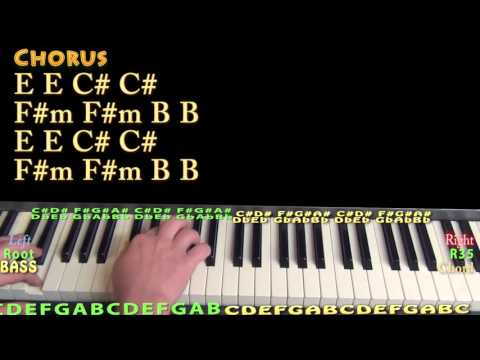 All I Ask (Adele) Piano Lesson Chord Chart