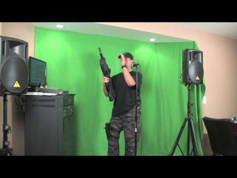 "Krazy Gun Guy Karaoke ""Don't Let The Sun"""