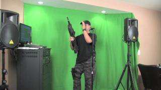 "Krazy Gun Guy Karaoke ""Don't Let The Sun"""