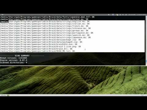Clamav - Anti Virus Scanner for Windows Files - Linux CLI