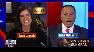 Dana Loesch OWNS  Juan Williams in Heated Debate on 2nd Amendment