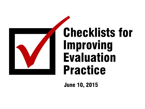 Webinar: Checklists for Improving Evaluation Practice