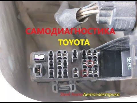 Самодиагностика(Toyota carina E 1995г.)self-diagnosis