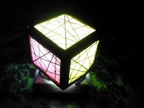 Kerajinan dari Kardus Bekas - Membuat Lampu Tidur - tutorial - IniCaraku