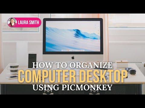 How to Organize Computer Desktop using Picmonkey - YouTube