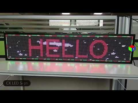 40x9 inch full color indoor led sign and usb wifi programmable scrolling information LED display