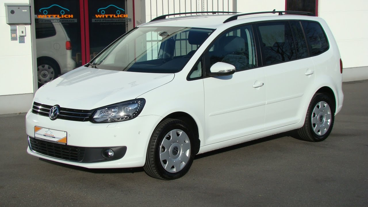 vw touran 2 0 tdi pure white youtube. Black Bedroom Furniture Sets. Home Design Ideas