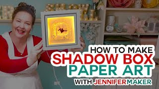 DIY Shadow Box Paper Art with a Free Template to Customize!