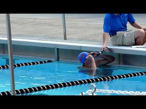 Ryan Lochte demonstrates stroke drills