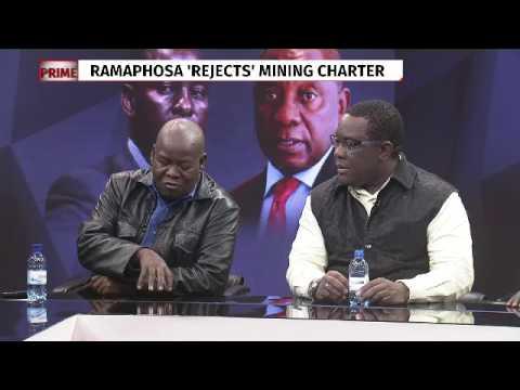 Ramaphosa 'rejects' mining charter