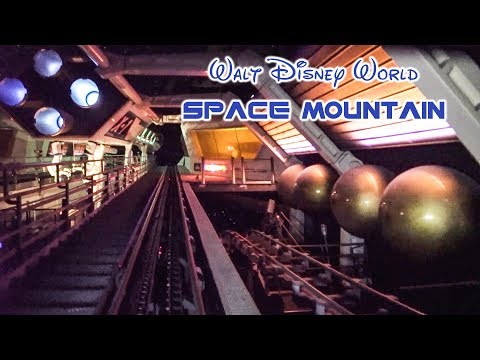 2019 Walt Disney World Space Mountain On Ride Front Seat Low Light HD POV with Full Queue and Exit