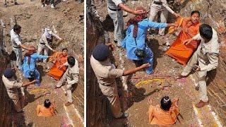 Sadhvi Trikal Bhavanta threatens 'live samadhi' after denial of facilities thumbnail