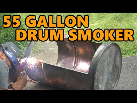 55 Gallon Drum Smoker Build Project
