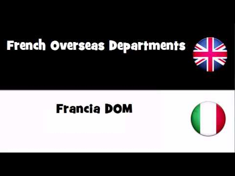 TRANSLATE IN 20 LANGUAGES = French Overseas Departments
