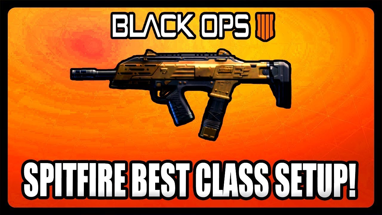 BEST SPITFIRE GOLD GUN CLASS SETUP IN BLACK OPS 4! BO4 GOLD WEAPON GUIDE!
