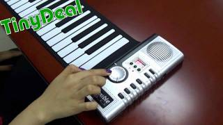 61 MIDI Soft Keyboard Piano with Speaker